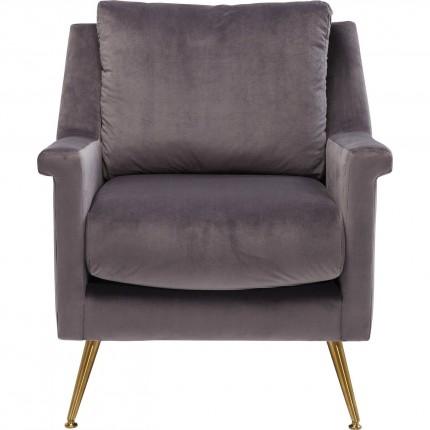 Fauteuil San Diego velours gris Kare Design