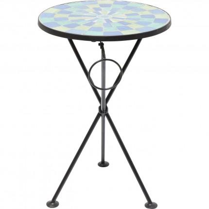 Table d'appoint Clack Mosaic bleu-vert 36cm Kare Design