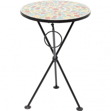 Table d'appoint Clack mosaïques multicolores Kare Design