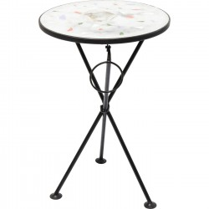 Table d'appoint Clack blanche 36cm Kare Design