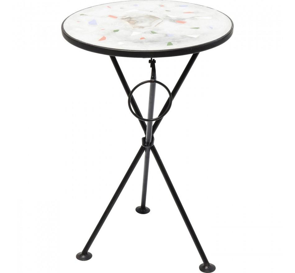 Table d'appoint Clack Mosaic Stone 36cm Kare Design