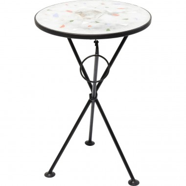 Table d'appoint Clack blanche 36cm Kare Design