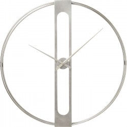 Horloge murale Clip argentée 60cm Kare Design