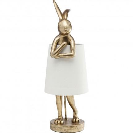 Lampe Animal Lapin doré Kare Design