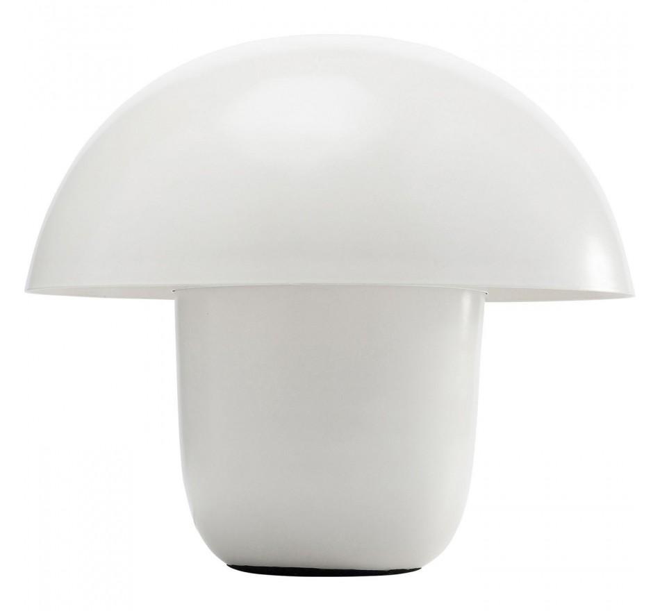 Lampe De Table Design Mat Blanche Mushroom Kare Design