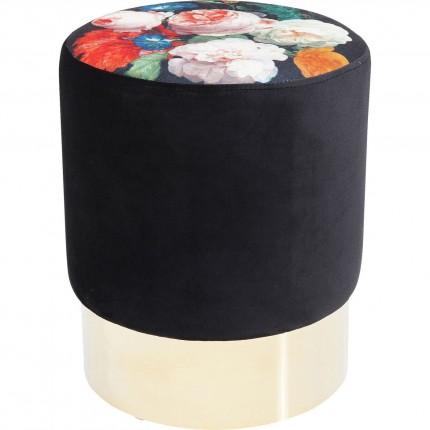 Tabouret Cherry Fleurs laiton Kare Design