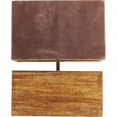Lampe de table Rectangular velours Kare Design