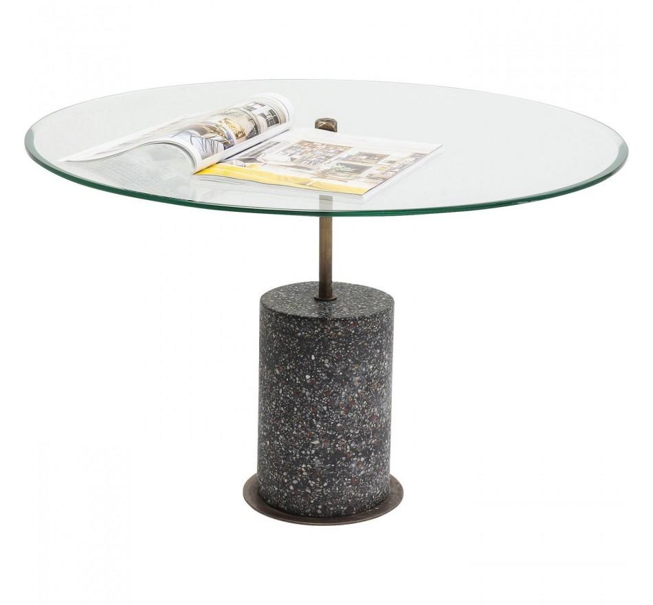 Table basse Terrazzo visible noir 47cm Kare Design