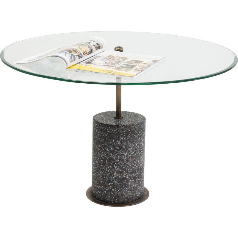 table basse en verre terrazzo visible kare design. Black Bedroom Furniture Sets. Home Design Ideas