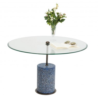 Table basse Terrazzo Visible bleue 47cm Kare Design