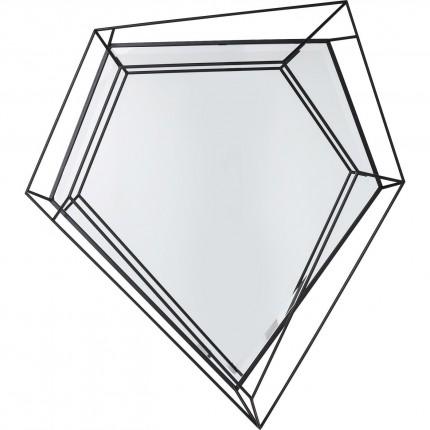 Miroir Wire diamant noir 104x92cm Kare Design