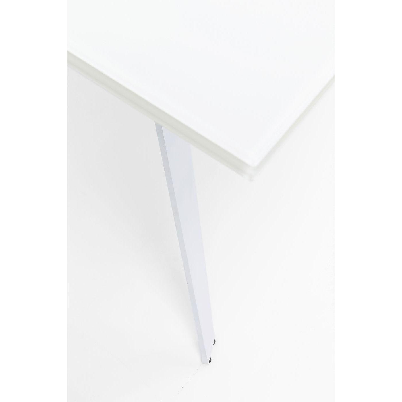 Table à rallonges Amsterdam 240x90cm blanche Kare Design