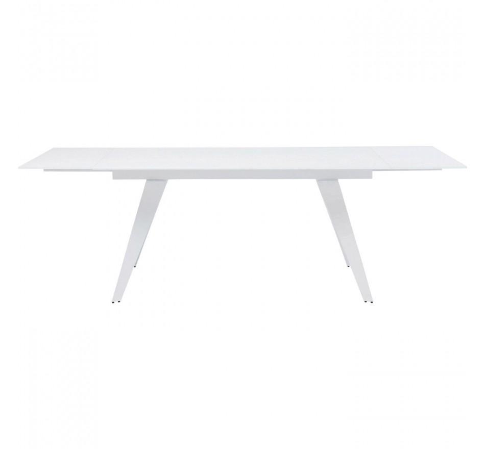 Table à rallonges Amsterdam blanche 240x90cm Kare Design