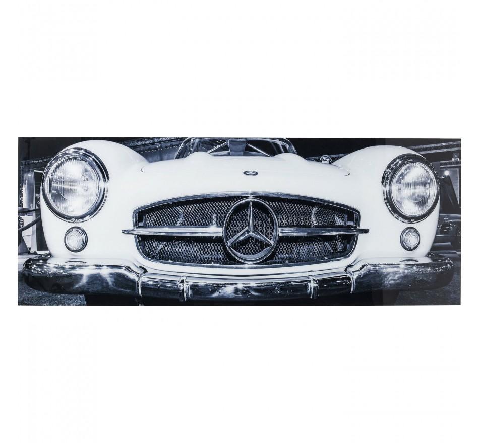 Tableau en verre Oldtimer Front 60x160cm Kare Design