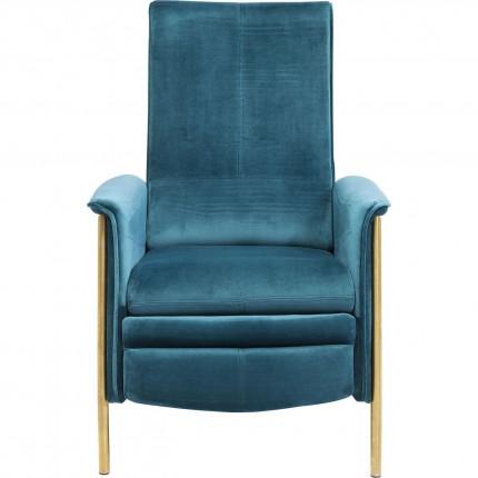 Fauteuil relax Lazy velours bleu Kare Design