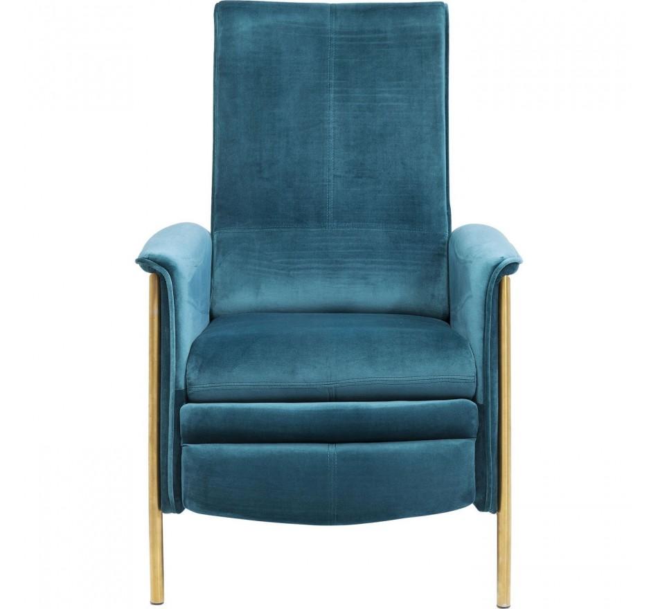 Relax Fauteuil Design.Fauteuil Relax Retro Velours Bleu Lazy Kare Design