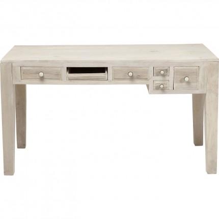 Bureau en bois Linear 5 tiroirs 135x60cm Kare Design