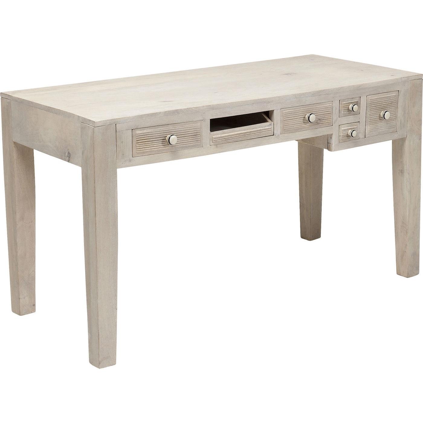 Bureau en bois Linear 6 tiroirs 135x60cm Kare Design