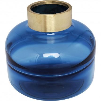 Vase Positano Belly bleu 21cm Kare Design
