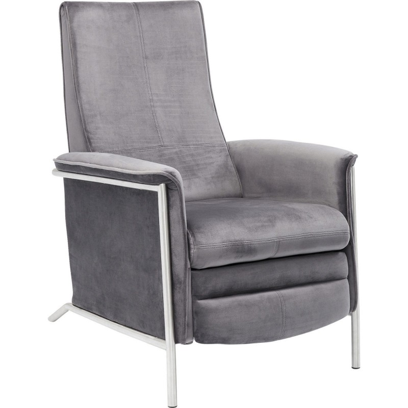 fauteuil relax contemporain en velours gris lazy kare design. Black Bedroom Furniture Sets. Home Design Ideas