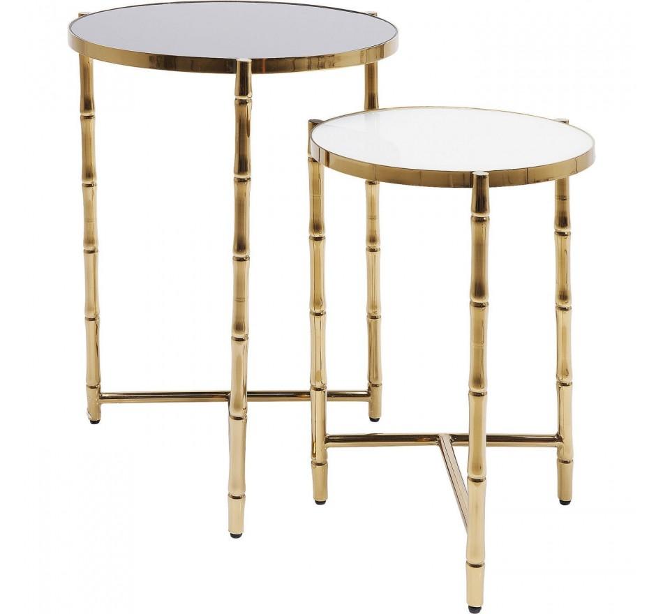 Tables d'appoint Hipster Bamboo set de 2 Kare Design