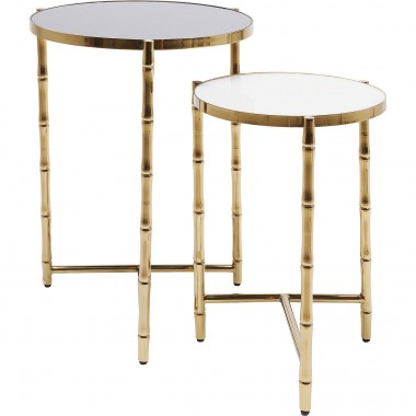 Tables d'appoint Hipster Bamboo set de 2 Kare Design