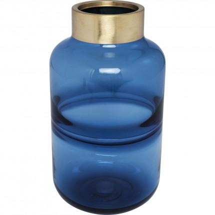 Vase Positano Belly bleu 28cm Kare Design