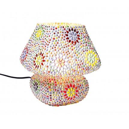 Lampe de table Mosaic fleurs 22cm Kare Design