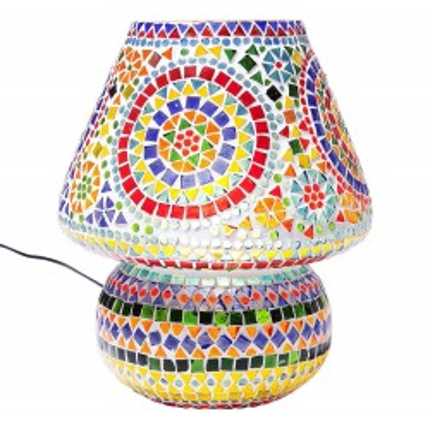Lampe de table Mosaic multicolore 33cm Kare Design