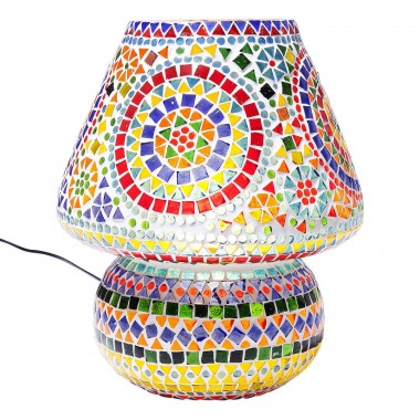 Lampe de table Mosaic multicolore 33cm Kare Design