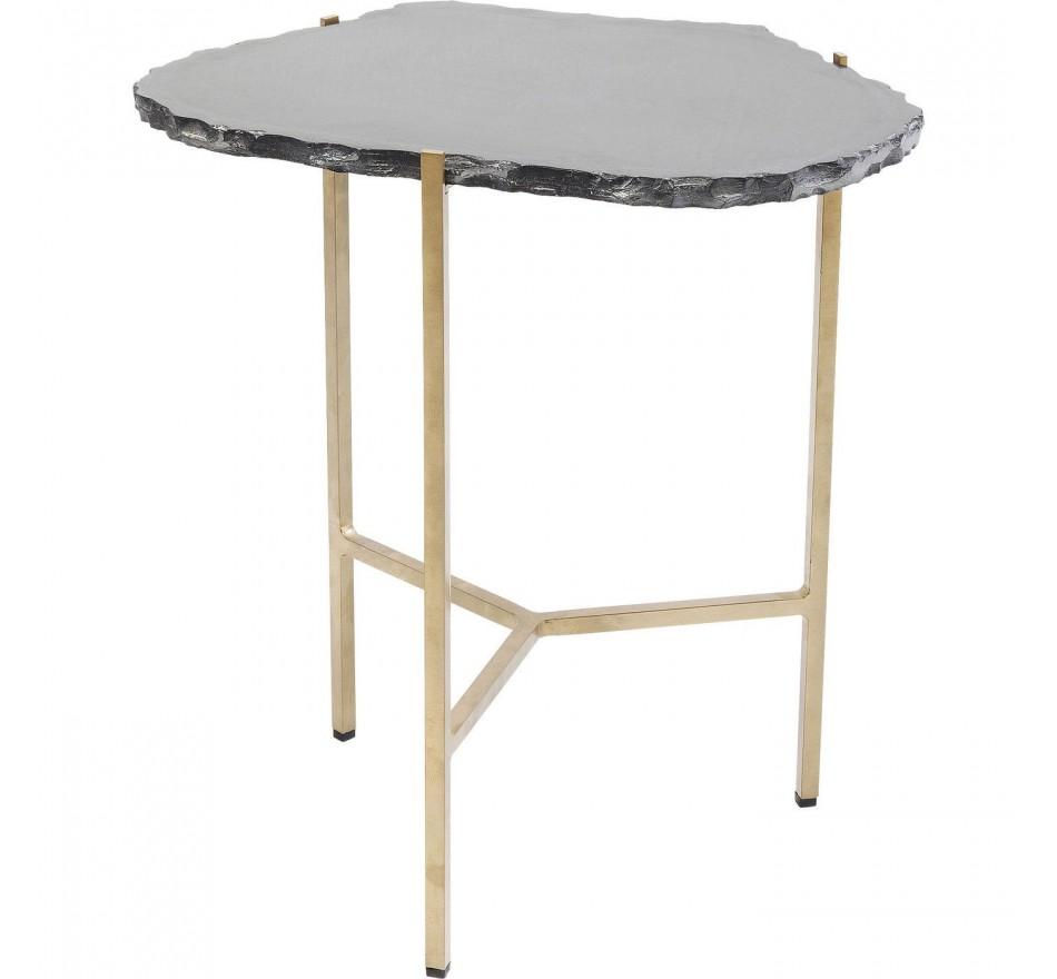 Table d'appoint Piedra noire 50x46cm Kare Design