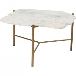 Table basse Piedra blanche 76x72cm Kare Design