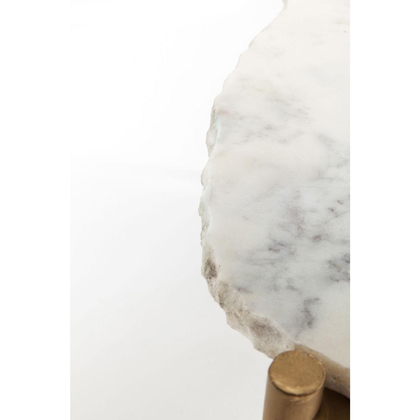 Table basse Piedra 76x72cm blanche Kare Design