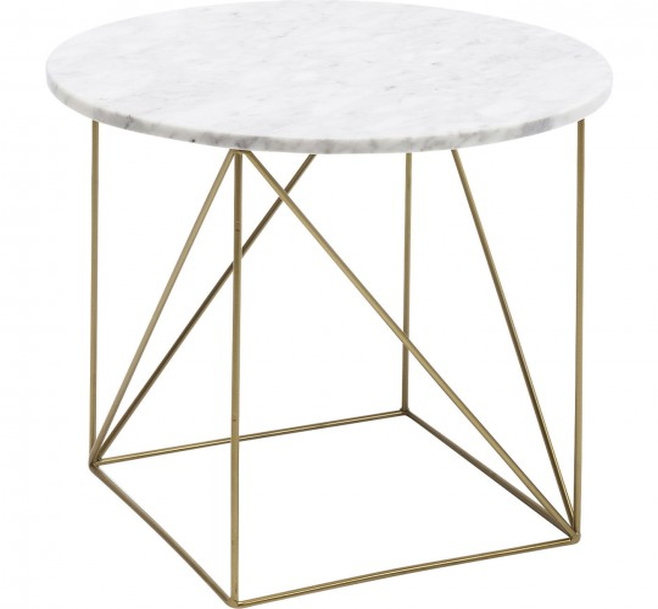 Table d'appoint Key Largo blanche 40cm Kare Design