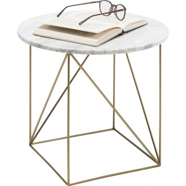 Table d'appoint Key Largo blanche 40cm Kare Design