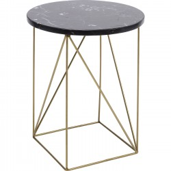 Table d'appoint Key Largo noire 35cm Kare Design