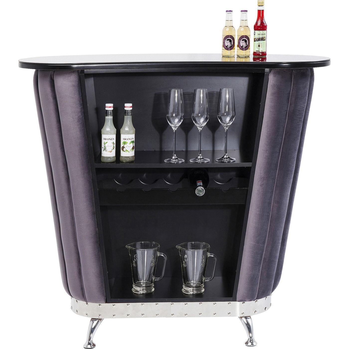 Bar After Work velours gris Kare Design