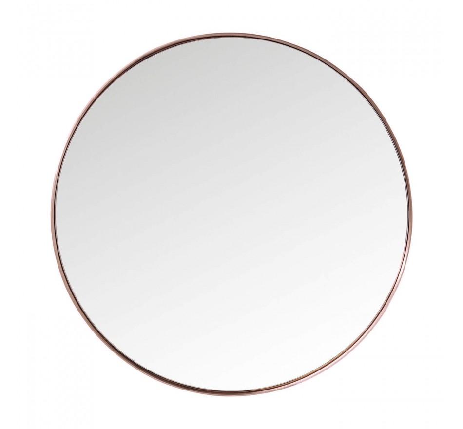 Miroir Curve rond cuivre 100cm Kare Design
