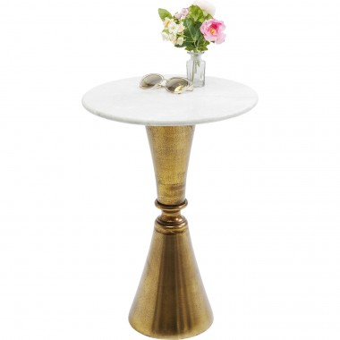 Table d'appoint Souk marbre blanc 57cm Kare Design