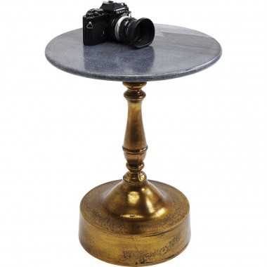 Table d'appoint Souk marbre noir 51cm Kare Design