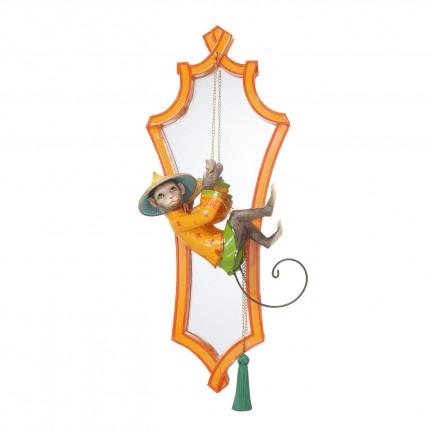 Miroir Singe orange 53x21cm Kare Design