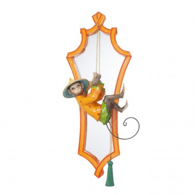 Miroir Singe orange 53x21cm Kare Design