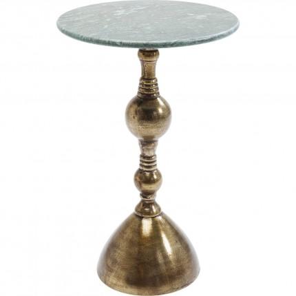 Table d'appoint Souk marbre vert 62cm Kare Design