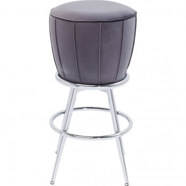 Tabouret de bar After Work velours gris Kare Design
