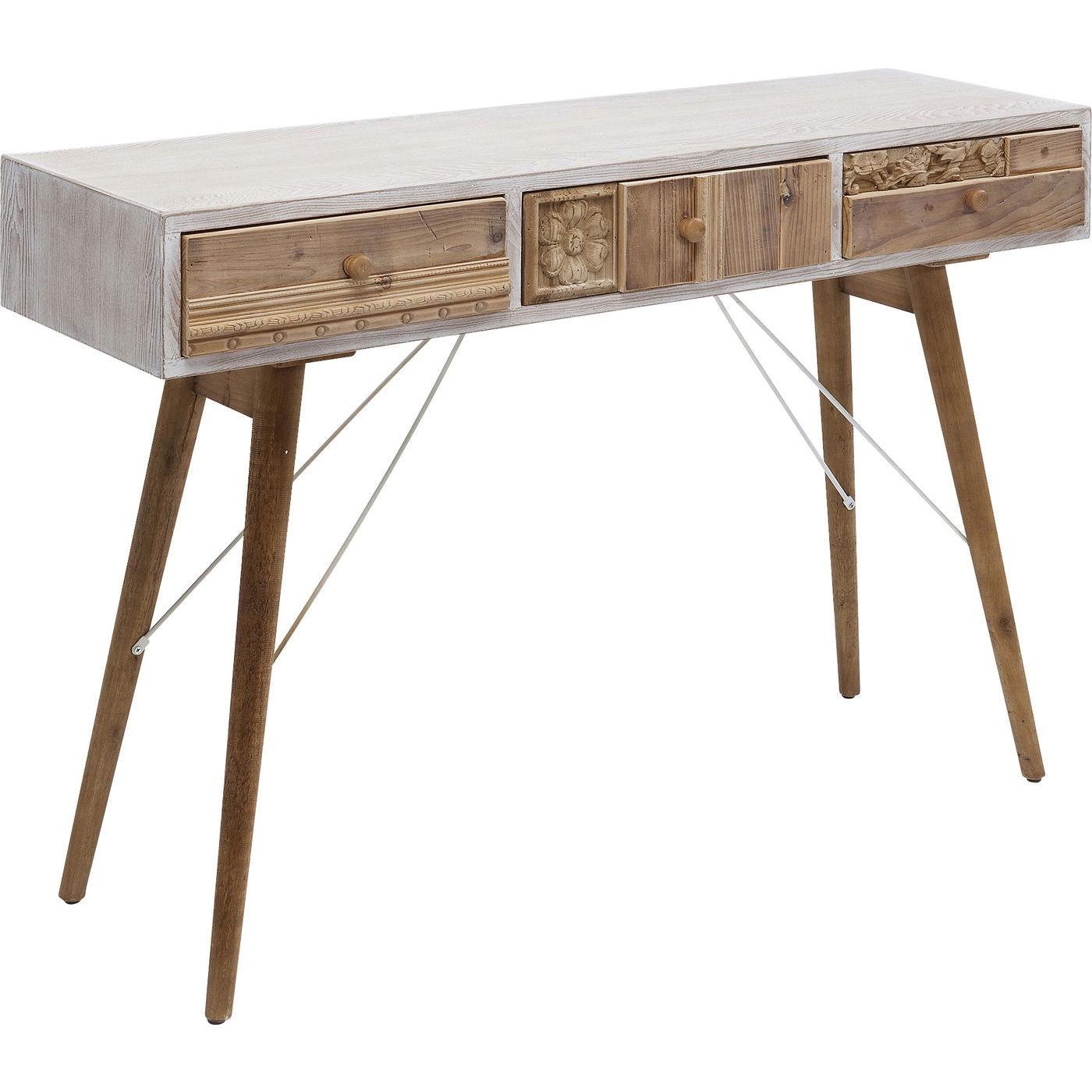 Bureau Davos 3 tiroirs 120x36cm Kare Design