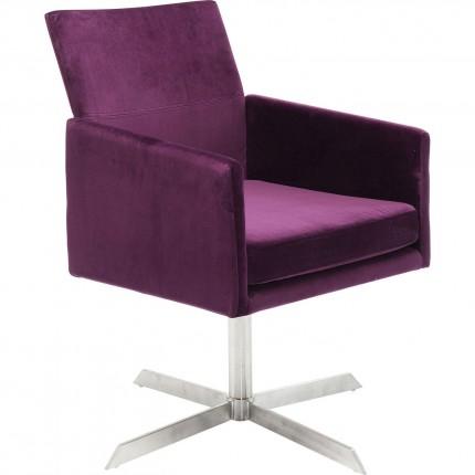 Fauteuil pivotant Dialog violet Kare Design