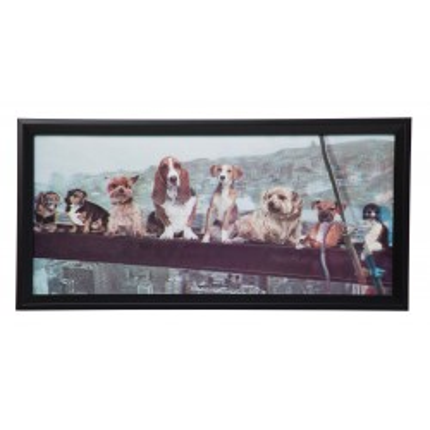 Tableau 3D Dogs 26x53cm Kare Design