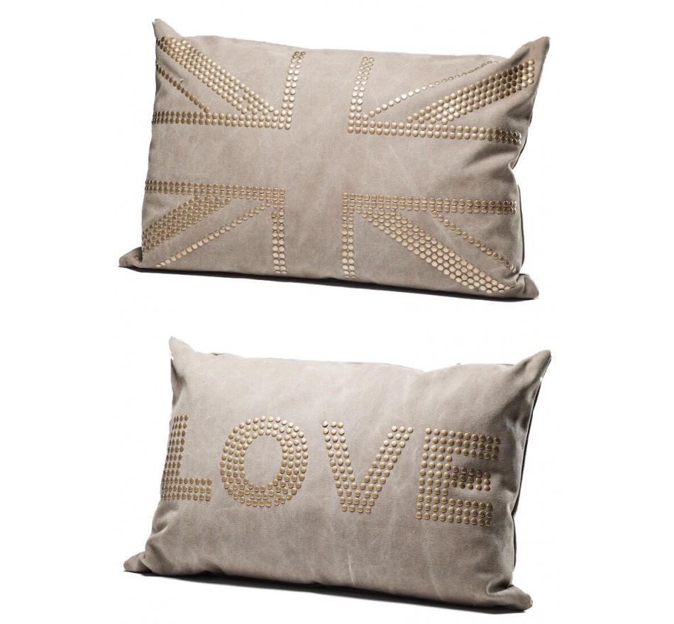 Coussin Love Studs Marron 40x60 cm Kare Design