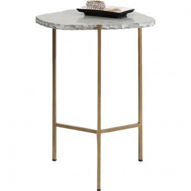 Table d'appoint Piedra grise 50x46cm Kare Design