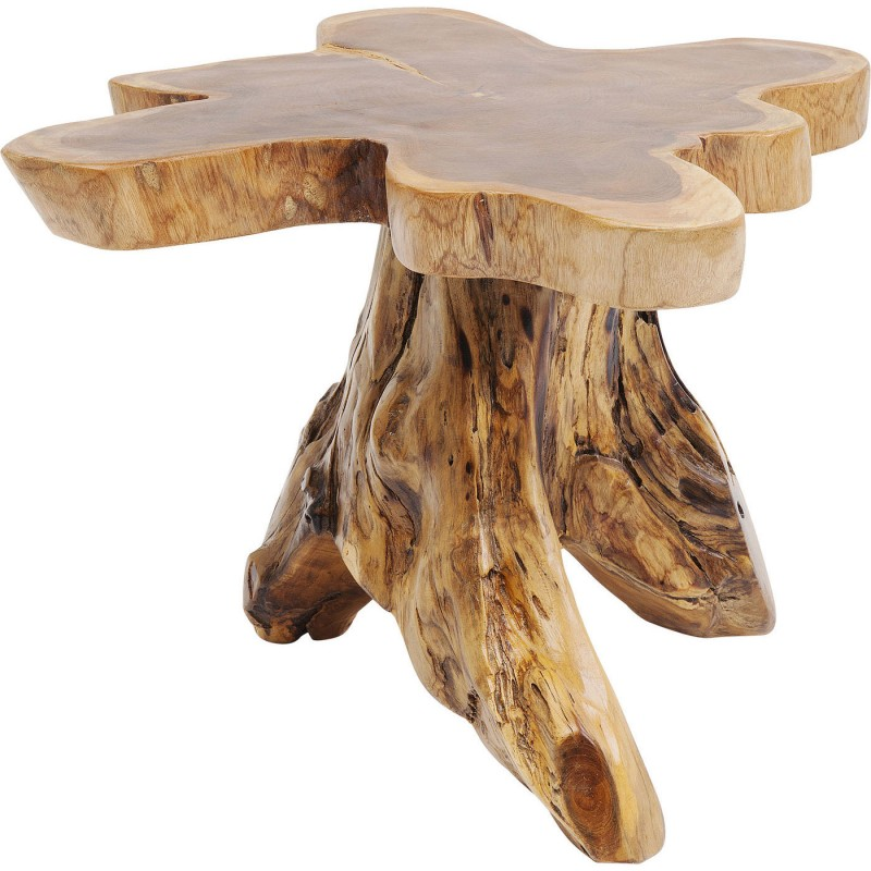 table basse d 39 appoint en forme de souche d 39 arbre en bois. Black Bedroom Furniture Sets. Home Design Ideas